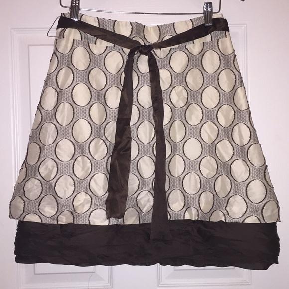 Alice + Olivia Dresses & Skirts - Alice + Olivia circle skirt~Brown & Cream Sz 6